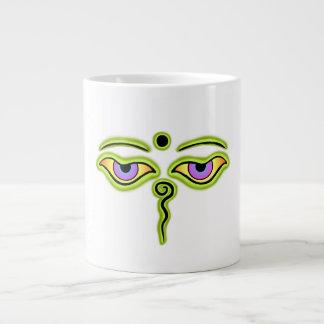 Olive Buddha Eyes.png Large Coffee Mug
