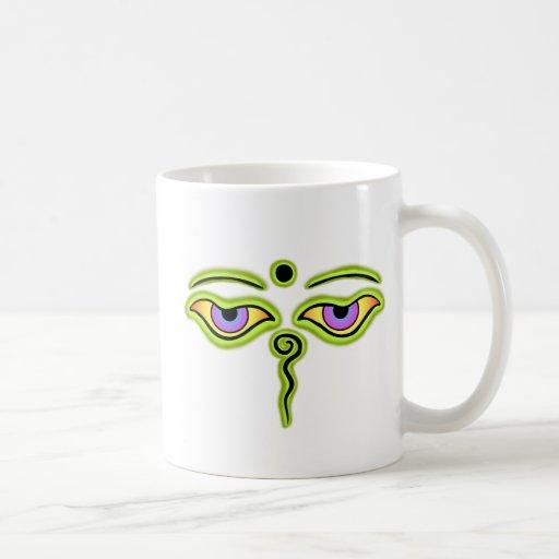 Olive Buddha Eyes.png Coffee Mugs
