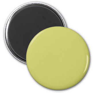 Olive #CCCC66 Solid Color 6 Cm Round Magnet