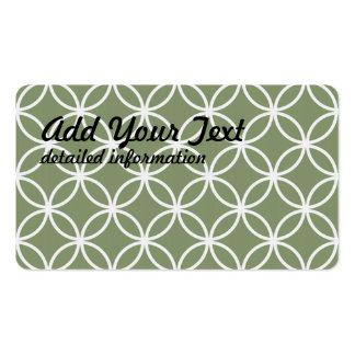 Olive Circular Pattern Pack Of Standard Business Cards