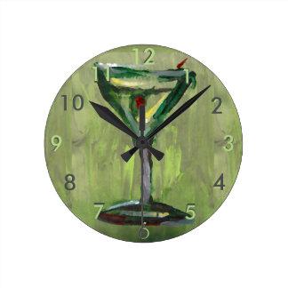 Olive Contemporary Designer Clock Martini Gibson