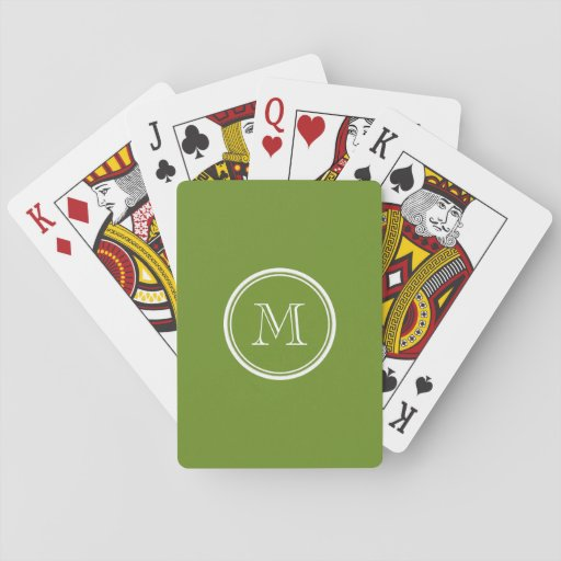 Olive Drab High End Colored Card Decks