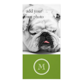 Olive Drab High End Colored Personalized Photo Card