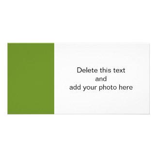 Olive Drab High End Designer Color Photo Cards