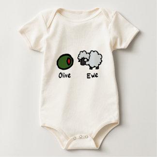 Olive Ewe Baby Bodysuit