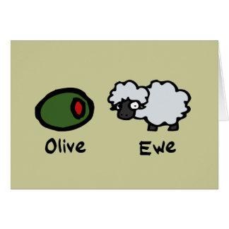 Olive Ewe Card