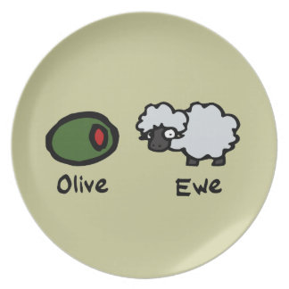 Olive Ewe Dinner Plate