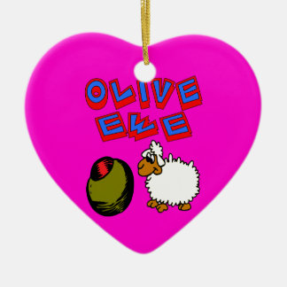 Olive Ewe, I Love You Christmas Ornament