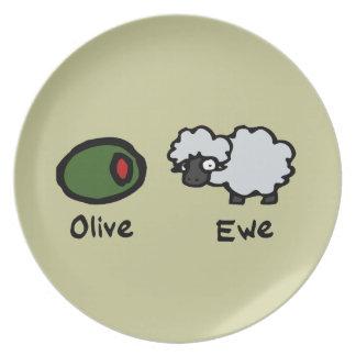 Olive Ewe Plate