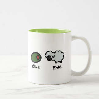 Olive Ewe Two-Tone Coffee Mug