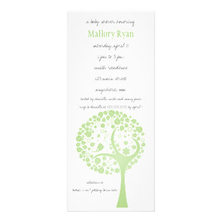 Olive Flowering Tree Baby Shower Invitation