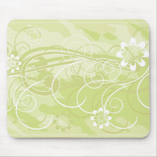 olive flowers mouse pad