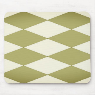 Olive-Fog--Diamond'-Sleek-Styled-Harlequin-Unisex Mouse Mat