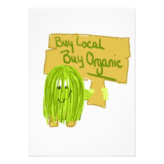 Olive Greeen Buy local Buy Organic Announcement