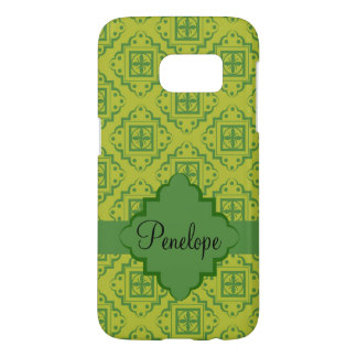Olive Green Arabesque Moroccan Name Personalized