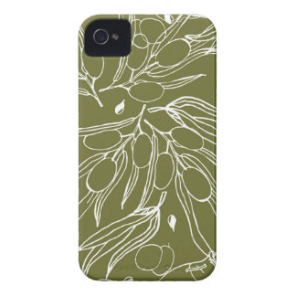 Olive green background Case-Mate iPhone 4 case