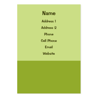 olive green business card