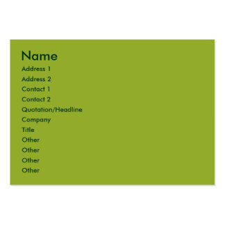 Olive  green business cards
