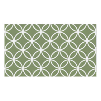 Olive Green Circular Pattern Pack Of Standard Business Cards