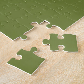 Olive Green Colour Jigsaw Puzzle