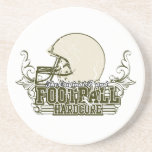 Olive Green Football Hardcore T-shirts and Gifts Beverage Coaster