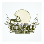 Olive Green Football Hardcore T-shirts and Gifts Invitation