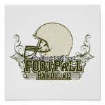 Olive Green Football Hardcore T-shirts and Gifts Print