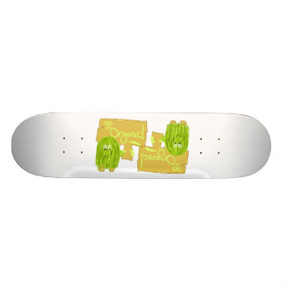 Olive Green Go Organic Skate Board
