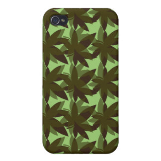 Olive Green Layered Leaves iPhone 4 Case