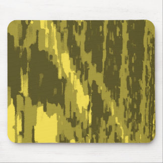 Olive Green, Lime Abstract Art Retro Mousepad