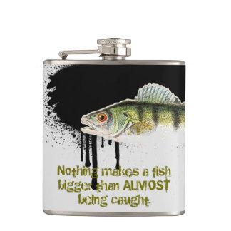 Olive Green, Orange Tail Fish Design Flasks