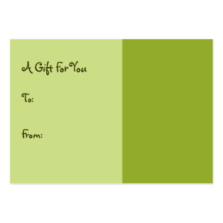 olive green pack of chubby business cards