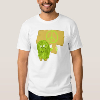 Olive Green Peace Person Tshirt