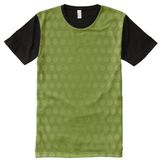 Olive green Polka Dots gradients + your ideas All-Over Print T-Shirt