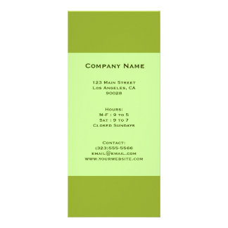 olive green rack card