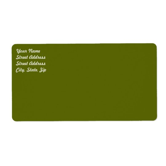 Olive Green Shipping Label