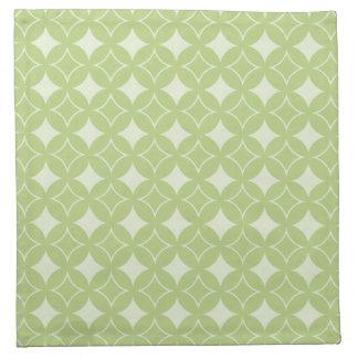 Olive green shippo pattern napkin
