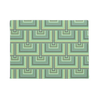 Olive green stripes square scales pattern doormat