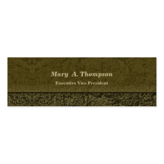 Olive Green Stucco Texture Double-Sided Mini Business Cards (Pack Of 20)