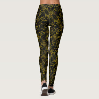 Olive Green Tiger Paws Leggings