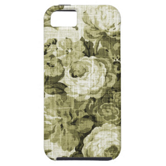 Olive Green Vintage Floral Toile Fabric No.4 iPhone 5 Covers