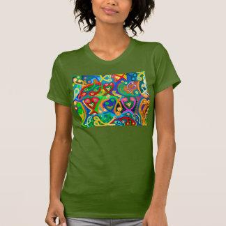 OLIVE green : Women's Racerback T-shirts