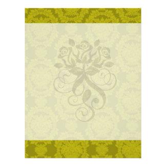 olive greens formal damask pattern flyer