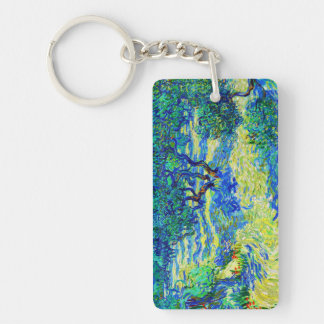 Olive Grove by Vincent Van Gogh Double-Sided Rectangular Acrylic Key Ring