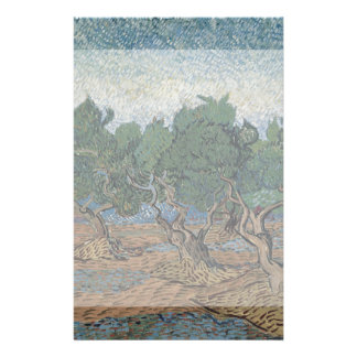 Olive Grove by Vincent Van Gogh Flyer Design