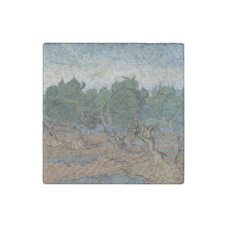 Olive Grove by Vincent Van Gogh Stone Magnet