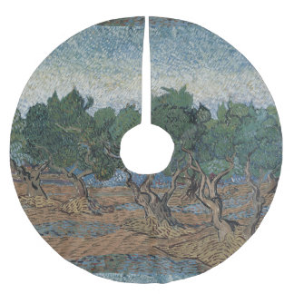 Olive Grove by Vincent Van Gogh Brushed Polyester Tree Skirt