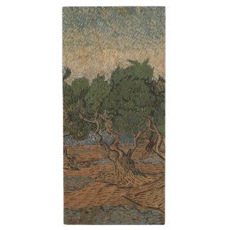 Olive Grove by Vincent Van Gogh Wood USB 2.0 Flash Drive