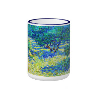 Olive Grove by Vincent Van Gogh Ringer Coffee Mug