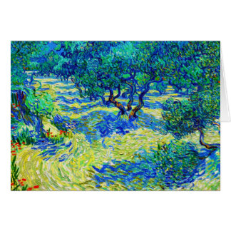 Olive Grove by Vincent Van Gogh Note Card